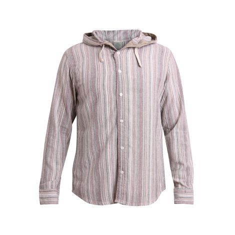 Hooded Hippie Shirt Freidenker grey